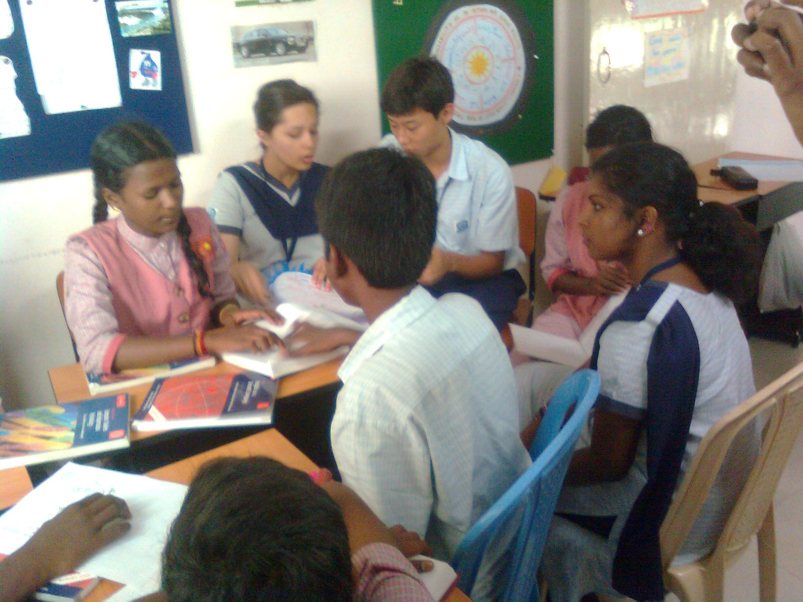 Siragu students at Lalaji Memorial Omega International School